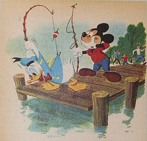 Original illustration from Donald Duck Lost and Found by Bob Grant and Bob Totten