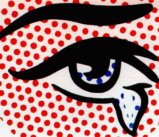 An example of Lichtenstein's Ben day dots and thick line style