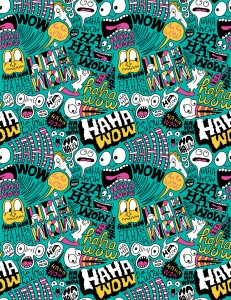 """Haha Wow Pattern"" by Chris Piascik"
